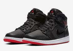 Air Jordan 1 Mid Bred Release Date - Sneaker Bar Detroit Best Sneakers, Sneakers Fashion, Sneakers Nike, Jordan Sneakers, Kicks Shoes, Men's Shoes, Sneaker Bar, Fresh Shoes, New Nike Air