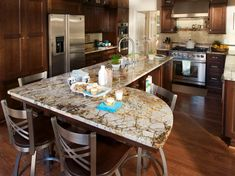 Great layout and flow to the kitchen. Love the colors!