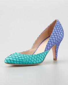 Loeffler Randall Tamsin Fish Colorblock Pumpfrom Neiman Marcus #poachit