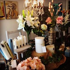 Florals. Candles. Chandeliers. This is romance! And it smells like a parfumerie! Pop into the gallery for delightful scents and scenes!