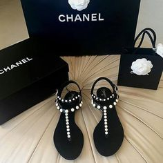 Stunning Chanel Summer Sandals / Only Me xoxo - Chanel Boots - Trending Chanel Boots for sales. - Stunning Chanel Summer Sandals / Only Me xoxo Slingback Chanel, Espadrilles Chanel, Chanel Sandals, Chanel Purse, Chanel Boots, Cute Shoes, Me Too Shoes, Guess Shoes, Best Designer Bags