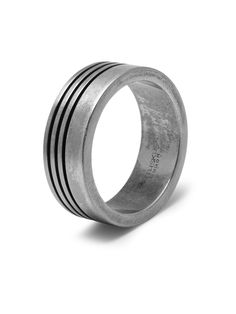 Groove Ring in Aged Silver, Northskull Groove Ring for Men