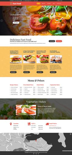 Fast Food #responsive #Joomla template for fast food #restaurant, national restaurants and food delivery services.