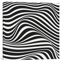 """East Urban Home 'Wave' Graphic Art Print on Wrapped Canvas Size: 12"""" H x 12"""" W x 0.75"""" D"""