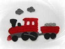 Train railway application crochet application patch closer crochet applique train train railway application by SavoeDesign Crochet Car, Crochet Sheep, Love Crochet, Crochet Motif, Crochet Crafts, Yarn Crafts, Crochet Flowers, Crochet Stitches, Crochet Projects