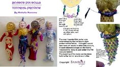 "TUTORIAL- BEADED Pin or Hanging Art Dolls, Workshop- Approx. 5""- 6"" (13- 15 cm) Tall by BAMBOLE DESIGNS, $28.00 USD"