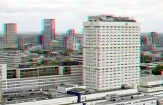 View from Euromast Rotterdam 3D