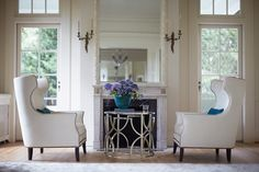 The beautiful craftsmanship and attention to detail of Bernhardt, exemplified here by the Haven Drum Table and Kingston Wing Chairs, deserves a spotlight in any room! Find your star when you visit a West Coast Living showroom today Home, Furnishings, Living Room Sets, Furniture, Interior, Find Furniture, Bernhardt Furniture, Room, Home Furnishings