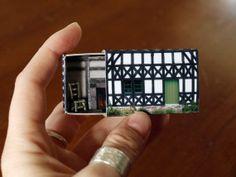 Matchbox House Miniature Room inside a by SuitcaseDollhouse