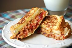 Peanut Butter and Jelly Stuffed French Toast - I make this about once a week
