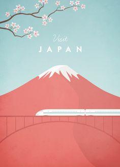 Vintage Japan Travel Poster