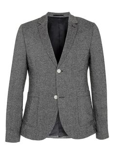 Topman - Grey Donegal Deconstructed Blazer