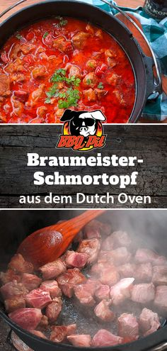 Schmortopf Braumeister Art aus dem Dutch Oven This hearty dish for the fire pot is easy to prepare and just the right thing for a hungry pack at a BBQ party with friends - prepared with a bitter Dutch Recipes, Russian Recipes, Greek Recipes, Meat Recipes, Mexican Food Recipes, Healthy Recipes, Ethnic Recipes, Bbq Party, Vsco