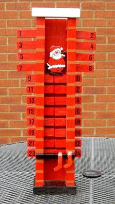 Mira cómo cae Papá Noel por la chimenea según pasan los días!!