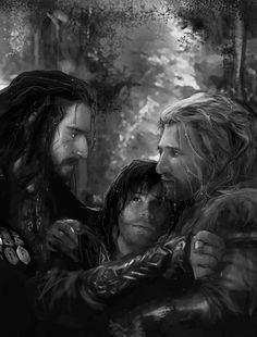 Kili and Fili almost drown saving a pony from the river. Kili saved the pony, Fili saved Kili, Thorin saved Fili.