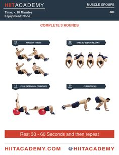 Killer Ab HIIT Workout
