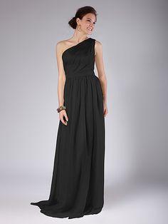 One Shoulder Column Bridesmaid Dress