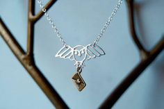 Long Live Hedwig! Hedwig Necklace  enchantedleaves.com :D   #HarryPotter #EnchantedLeaves #Hedwig #HedwigNecklace