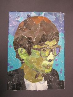 High school magazine collage: Self-Portrait