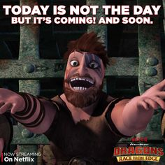 """Dagur may be deranged, but he is no match for the dragon riders. Watch them go head-to-head in the """"Dragon Eye of the Beholder, Part 1"""" episode, on Netflix. #DreamWorksDragons"""