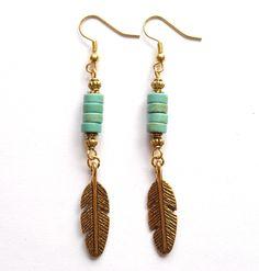 Earrings with turquoise. Örhängen med turkos från http://ladyofthelake.se