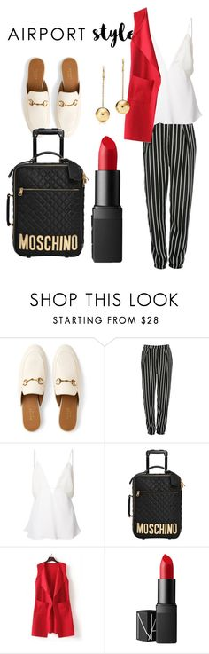 """""""Classy style"""" by maddyg922 ❤ liked on Polyvore featuring Gucci, Glamorous, Christopher Esber, Moschino, WithChic and NARS Cosmetics"""