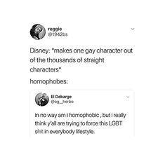 how do you think lgbtqia+ people think about every single thing ever being hetero. let them have their ONE character jfc