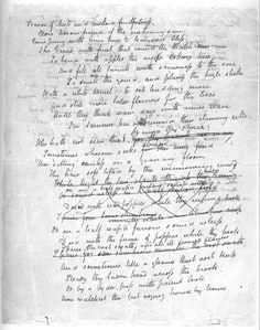 "Keats's manuscript of ""Ode to Autumn.""  ""keats manuscripts"" - Google Search"
