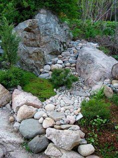 Japanese Garden Design Use of Stones and Boulders Landscaping With Rocks, Front Yard Landscaping, Garden Ideas Homemade, Rock Plants, Small Japanese Garden, Rock Garden Design, Garden Borders, Le Far West, Garden Stones