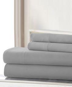 Loving this Silver Cotton Sheet Set on #zulily! #zulilyfinds