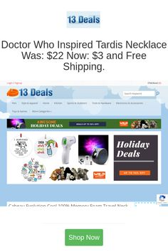 Best deals and coupons for 13 Deals Tools Animals Pet Supplies B2B Work Safety Clothing Apparel Accessories Consumer Electronics Smart Home Devices Hardware Health Beauty Health Care Household Home Decor Lighting Yard Garden Lawn Garden Outdoor Living Vehicles Parts Safety Clothing, Clothing Apparel, Like A Sir, Pet Style, Doctor Who Tardis, Shopping Places, Holiday Deals, Pet Home, New Trailers