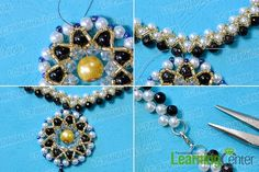 This beaded large pendent necklace is a little complex to make. Now check the detailed steps below to find out how to make it.