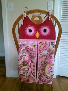 Custom made owl diaper stacker