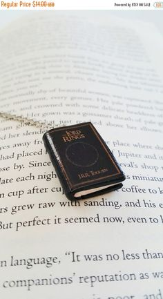 20% OFF Lord of The Rings Handmade Mini Book Necklace Clay Charms Pendant - Miniature Books - Book Gifts - Book Jewelry - Book Lover Gift (11.20 USD) by PINKBLUEART
