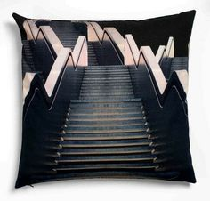 Stairs to heaven cushion - Louise Roe Stairs To Heaven, Yellow Cushions, Dark Images, Cute Pillows, Printed Cushions, Interior Stairs, Stairways, Ideal Home, My House