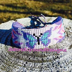 Beaded Tribal Butterfly Bracelet