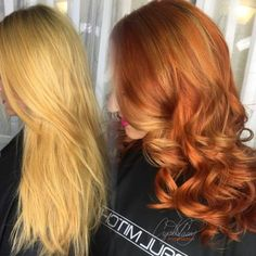 """Crystal Casey(@CryistalChaos)of High Voltage Hair, Virginia Beach,VA, says """"This client originally came to me wanting to be that perfect natural, light red head - otherwise known as the ginger color. We easily achieved that, but even on her first visit to my chair she was struck by the model on the cover the Paul Mitchell Color XG swatch book."""