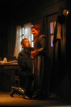 """Plácido Domingo as Dick Johnson and Catherine Malfitano as Minnie in """"The Girl of the Golden West"""" (2002): Photo: Robert Millard"""