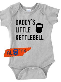 Workout Fitness DADDY S LITTLE KETTLEBELL Fitness Onesie. FitinTN · Shop  Now-Baby Fitness Apparel 0a2aa33e07e