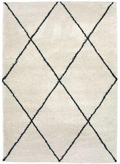 Magic teppe 160x230Kunstfiber Hvit-sort