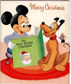 Christmas Mickey and Pluto