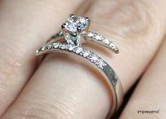 Engagement rings, pierścionki zaręczynowe, diamond ring, impressimo, impressimo.pl, jewelry, biżuteria, złoto, gold, weeding, ślub, white gold, białe złoto