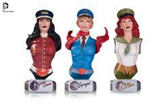 DC Collectibles ajoute des nouveautés à leur gamme DC Comics Bombshells avec 3 nouveaux mini-bustes et une nouvelle statue.