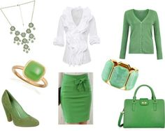 Green and white for St Patrick's day! :)
