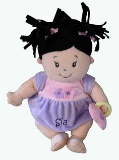 Personalised Baby Stella with Black Hair - PetitePeople