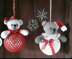 Christmas Bears. Only inspiration, no pattern