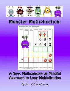 I would love to introduce you to my product Monster Multiplication: A New Multisensory and Mindful Approach to Long Multiplication. What is the Monster Multiplication Approach? This publication offers a step by step approach to teaching long multiplication that makes the process both fun and memorable. #multiplication #longmultiplication Long Multiplication, Multiplication Activities, Fun Math Activities, Math Resources, Types Of Learners, I Love Math, Math Strategies, Memory Strategies, Maths Algebra