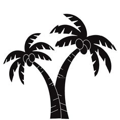 palm trees die cut vinyl decal pv838 palm window and cars rh pinterest com black palm tree clip art free palm tree black and white clipart