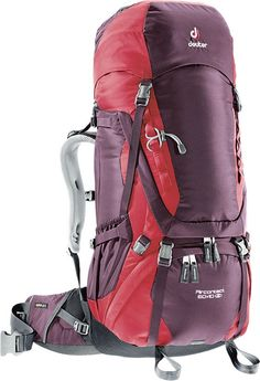 With an array of features and a trail-tested German-engineered suspension system, the Deuter Aircontact 60+10 SL Women's internal frame pack is built for backcountry adventure.