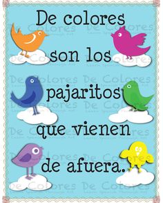 Love this song! Reminds me of my grandmother Margarita <3 De Colores  Los Pajaritos   Printable Spanish by carlitosideas, $1.99